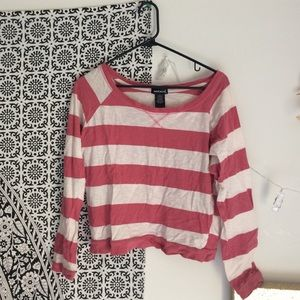 Wet Seal Striped Long Sleeve Top